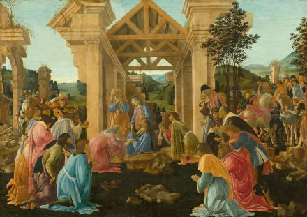 Botticelli, Sandro: The Adoration of the Magi. Fine Art Print/Poster. Sizes: A4/A3/A2/A1 (001890)